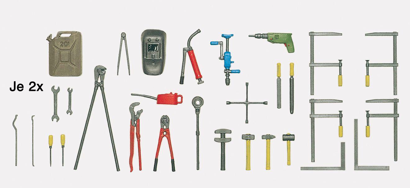 1:24 Werkzeugset, Bausatz - Preiser 57301  | günstig bestellen bei Modelleisenbahn Center  MCS Vertriebs GmbH