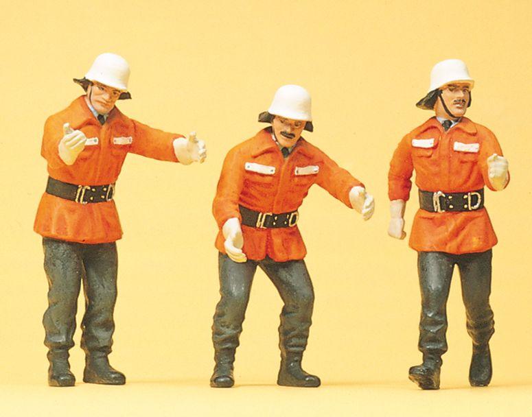 1:24 Feuerwehrmänner im Einsatz, modern- Preiser 57563  | günstig bestellen bei Modelleisenbahn Center  MCS Vertriebs GmbH
