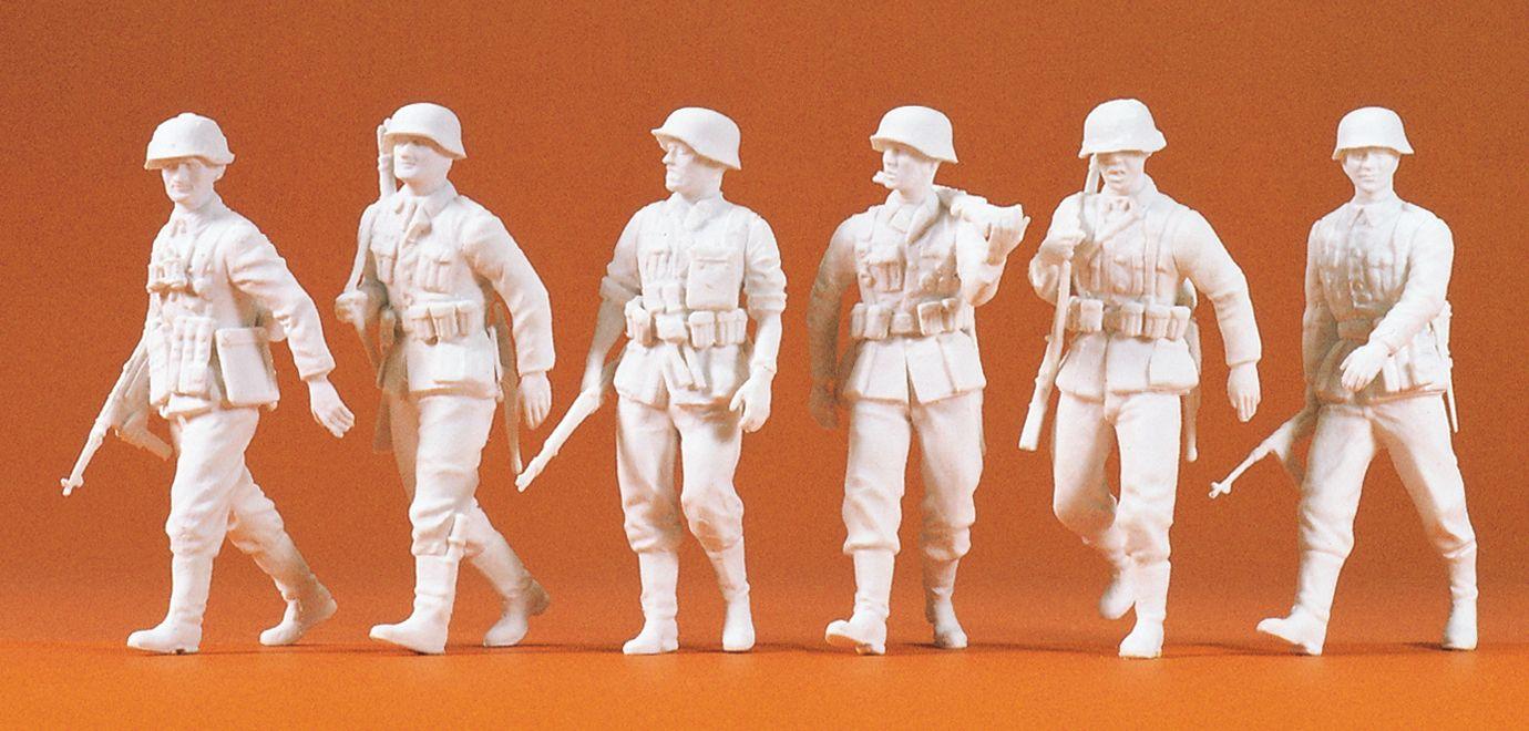 1:35 EDW Infanterie vorgehend Bausatz, 6 St, unbemalt- Preiser 64004  | günstig bestellen bei Modelleisenbahn Center  MCS Vertriebs GmbH