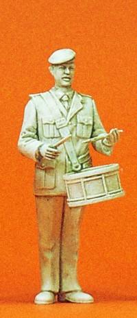 1:35 BW Heeresmusikkorps Musiker mit kleiner Trommel, unbemalt - Preiser 64356  | günstig bestellen bei Modelleisenbahn Center  MCS Vertriebs GmbH