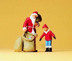 1:43 Weihnachtsmann + Kinder - Preiser 65335  | günstig bestellen bei Modelleisenbahn Center  MCS Vertriebs GmbH