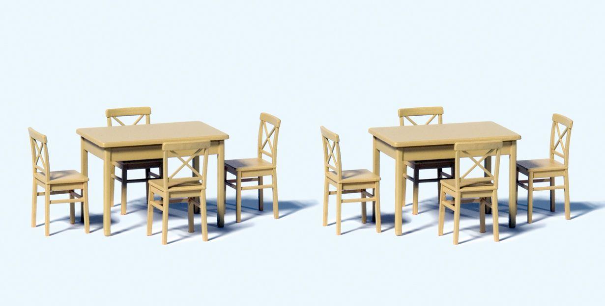 1:50 Tische (2St.) und Stühle (8 St.)  | günstig bestellen bei Modelleisenbahn Center  MCS Vertriebs GmbH