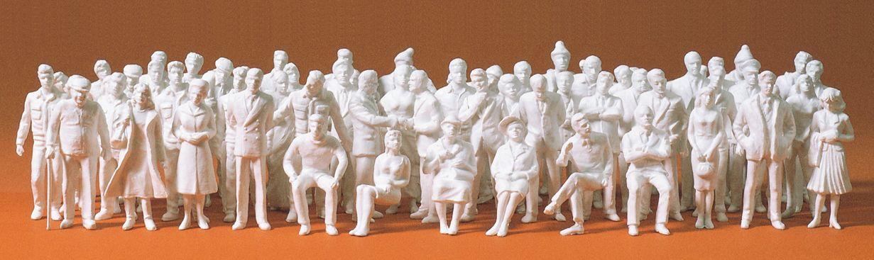 1:50 Figuren, unbemalt, 60 St. - Preiser 68290 Art.Nr.663-68290