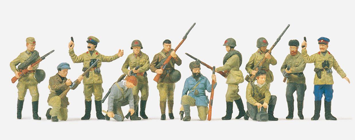 1:72 UdSSR Infanteristen und Partisanen, unbemalt, 12 St.- Preiser 72522  | günstig bestellen bei Modelleisenbahn Center  MCS Vertriebs GmbH