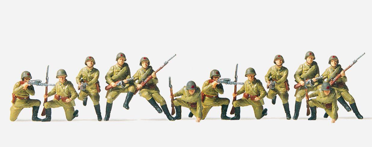 1:72 UdSSR Infanterie aufgesessen, unbemalt, 12 St.- Preiser 72523  | günstig bestellen bei Modelleisenbahn Center  MCS Vertriebs GmbH