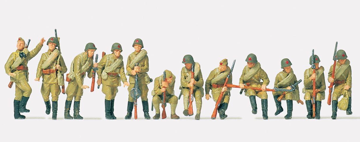 1:72 UdSSR Infanterie aufgesessen, unbemalt, 12 St.- Preiser 72525  | günstig bestellen bei Modelleisenbahn Center  MCS Vertriebs GmbH