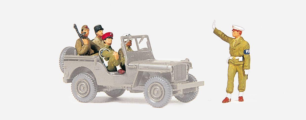 1:72 Militärpolizei, Wien 1945 unbemalt, 5 St.- Preiser 72529  | günstig bestellen bei Modelleisenbahn Center  MCS Vertriebs GmbH