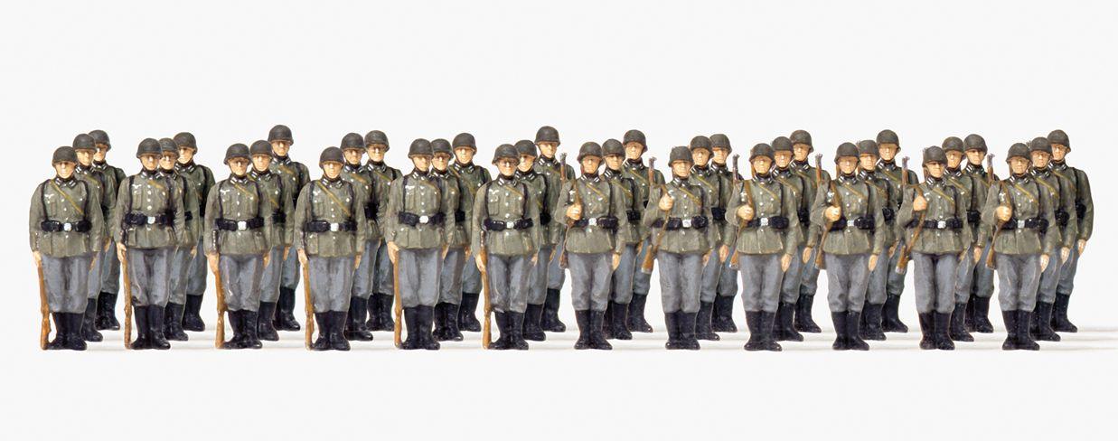 1:72 EDW Infanterie angetreten unbemalt, 36 Figuren- Preiser 72533  | günstig bestellen bei Modelleisenbahn Center  MCS Vertriebs GmbH