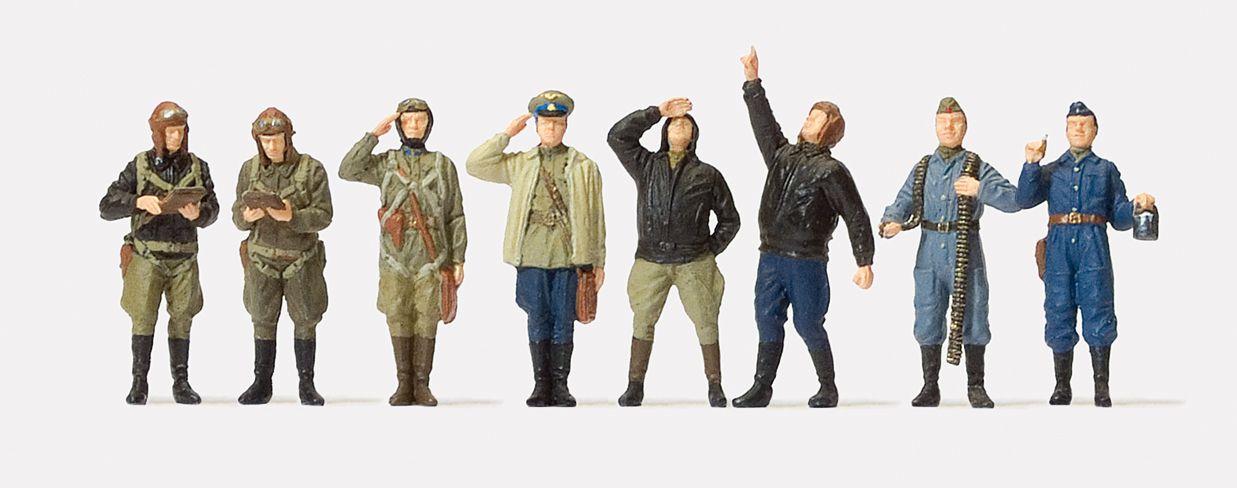 1:72 UdSSR Piloten und Bodenpersonal stehend, 1941-45, unbemalt, 8 St- Preiser 72543  | günstig bestellen bei Modelleisenbahn Center  MCS Vertriebs GmbH