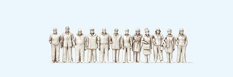 1:100 Figuren unbemalt, stehend, 12 St.  | günstig bestellen bei Modelleisenbahn Center  MCS Vertriebs GmbH