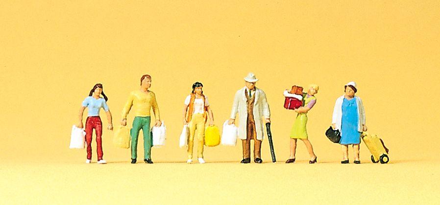 1:120 Einkaufende mit Tüten + Taschen- Preiser 75005  | günstig bestellen bei Modelleisenbahn Center  MCS Vertriebs GmbH