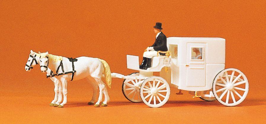 1:120 Hochzeitskutsche geschlossen - Preiser 75150  | günstig bestellen bei Modelleisenbahn Center  MCS Vertriebs GmbH