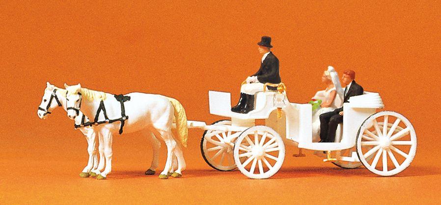 1:120 Hochzeitskutsche offen - Preiser 75151  | günstig bestellen bei Modelleisenbahn Center  MCS Vertriebs GmbH