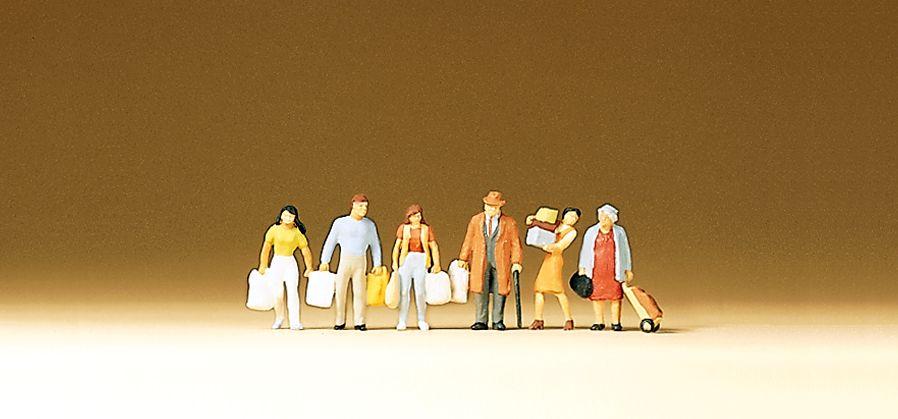 1:160 Einkaufende mit Tüten - Preiser 79015  | günstig bestellen bei Modelleisenbahn Center  MCS Vertriebs GmbH