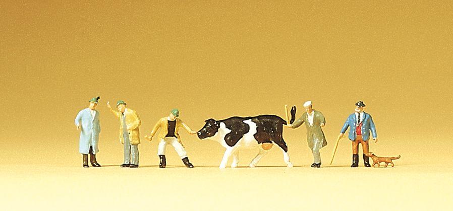 1:160 Viehhandel mit Kuh - Preiser 79080  | günstig bestellen bei Modelleisenbahn Center  MCS Vertriebs GmbH