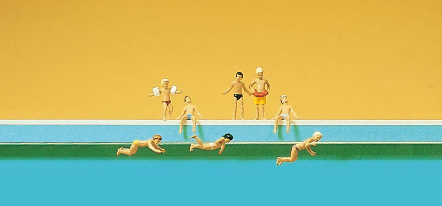 1:160 Kinder im Schwimmbad - Preiser 79091  | günstig bestellen bei Modelleisenbahn Center  MCS Vertriebs GmbH