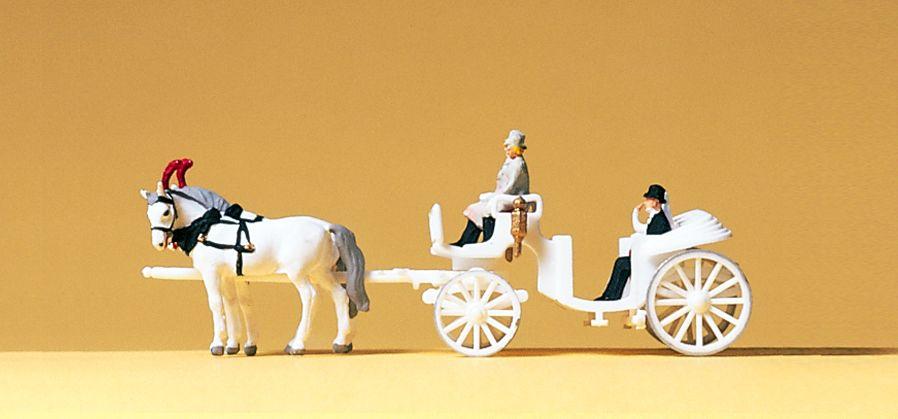 1:160 Hochzeitskutsche offen, Fertigmodell- Preiser 79479  | günstig bestellen bei Modelleisenbahn Center  MCS Vertriebs GmbH