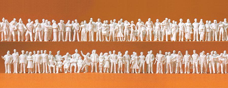 1:200 Figuren, unbemalt, 190 St.- Preiser 80990  | günstig bestellen bei Modelleisenbahn Center  MCS Vertriebs GmbH
