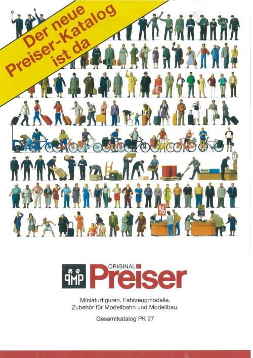 Preiser Gesamtkatalog PK27 mit vielen Fotos - NEU 2018  | günstig bestellen bei Modelleisenbahn Center  MCS Vertriebs GmbH