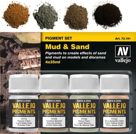 Pigment-Set Schlamm und Sand - Vallejo  | günstig bestellen bei Modelleisenbahn Center  MCS Vertriebs GmbH