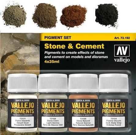 Pigment-Set Stein und Zement - Vallejo  | günstig bestellen bei Modelleisenbahn Center  MCS Vertriebs GmbH