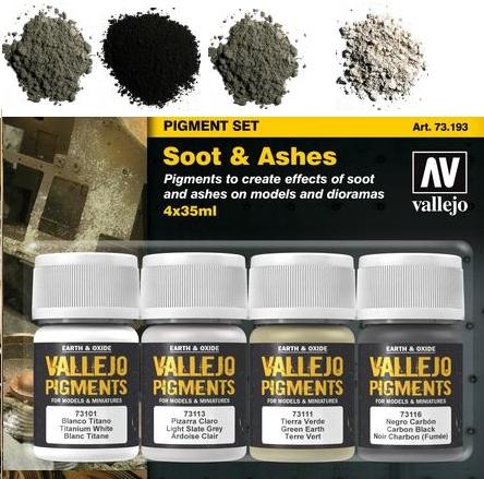 Pigment-Set Schmutz und Asche - Vallejo  | günstig bestellen bei Modelleisenbahn Center  MCS Vertriebs GmbH
