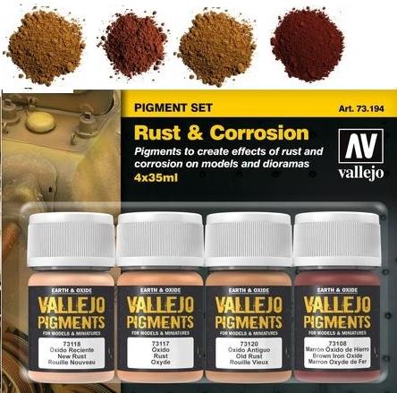 Pigment-Set Rost und Korrosion - Vallejo  | günstig bestellen bei Modelleisenbahn Center  MCS Vertriebs GmbH