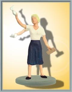 1:87 Winkende Frau mit bewegtem Arm incl. Antrieb für 14-16V | günstig bestellen bei Modelleisenbahn Center  MCS Vertriebs GmbH