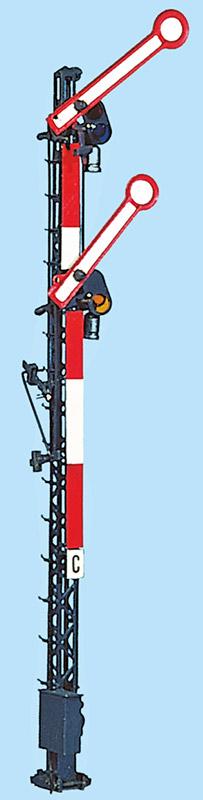 H0 Hauptsignal zweiflügelig gekuppelt unbeleuchtet mit 8m Mast - Weinert 0111  - Bausatz | günstig bestellen bei Modelleisenbahn Center  MCS Vertriebs GmbH