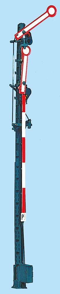 H0 Hauptsignal Schmalmast zweiflügelig gekuppelt unbeleuchtet mit 10m Mast - Weinert 0511  - Bausatz | günstig bestellen bei Modelleisenbahn Center  MCS Vertriebs GmbH