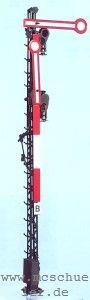 Spur 0 Form-Hauptsignal 2-flügelig, 8m-Mast, beleuchtet, Bausatz- Weinert 2503  | günstig bestellen bei Modelleisenbahn Center  MCS Vertriebs GmbH