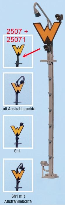 Spur 0 Wartezeichen, unbeleuchtet, Bausatz- Weinert 2507  | günstig bestellen bei Modelleisenbahn Center  MCS Vertriebs GmbH