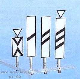 Spur 0 Bakensatz für Vorsignale, Ätzblech, Messinghalter und Schiebebilder, Bausatz - Weinert 2531  | günstig bestellen bei Modelleisenbahn Center  MCS Vertriebs GmbH