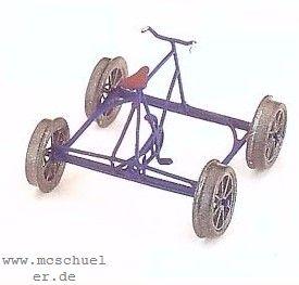 Spur 0 Fahrraddraisine (mittig), Ätzteile-MS-Gussteile, Bausatz- Weinert 2559  | günstig bestellen bei Modelleisenbahn Center  MCS Vertriebs GmbH