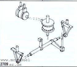 Spur 0 Bremsylinder mit Umlenkhebeln- Weinert 2709  | günstig bestellen bei Modelleisenbahn Center  MCS Vertriebs GmbH