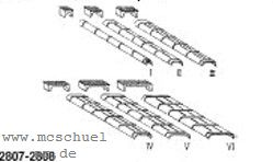 Spur 0 Blechkanäle und Rollenkästen 12xGr.I, 8xGr.II, 6xGr.III, Weissmetall - Weinert 2808  | günstig bestellen bei Modelleisenbahn Center  MCS Vertriebs GmbH