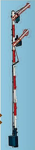 1:87 Bayrisches Einfahrsignal, 2-flüglig, gekoppelt - Weinert 3012  - Ausführung 10m Mast im Bausatz | günstig bestellen bei Modelleisenbahn Center  MCS Vertriebs GmbH