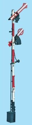 1:87 Bayrisches Ausfahrsignal, 2-flüglig, gekoppelt - Weinert 3112  - beleuchtete Ausführung 8m Mast im Bausatz   günstig bestellen bei Modelleisenbahn Center  MCS Vertriebs GmbH
