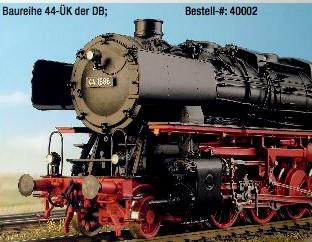 DB Ep.3a + 3b BR 44 DB ÜK mit Witte-Windleitblechen, Kohleversion - Weinert - Ausführung mit NEM-Radsätzen | günstig bestellen bei Modelleisenbahn Center  MCS Vertriebs GmbH