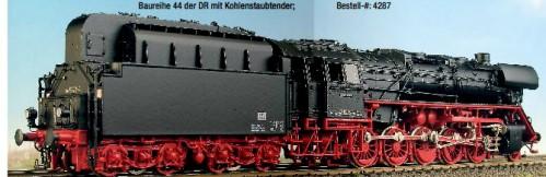 DR Ep.3b + Ep.4 BR 44 mit Witte-Windleitblechen und Kohlestaubtender - Weinert - Ausführung mit NEM-Radsätzen | günstig bestellen bei Modelleisenbahn Center  MCS Vertriebs GmbH