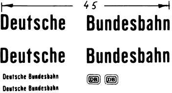 1:87 Beschriftung Deutsche Bundesbahn - Weinert 4416  | günstig bestellen bei Modelleisenbahn Center  MCS Vertriebs GmbH
