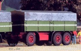 1:87 3-achsiger Anhänger mit Plane - Weinert 4501 - passend zu Henschel-LKW 36W3 | günstig bestellen bei Modelleisenbahn Center  MCS Vertriebs GmbH