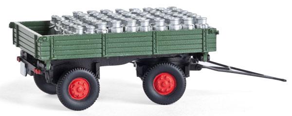 1:87 Anhänger mit Milchkannen - Weinert 45017  - passend z.B. für Lanz   günstig bestellen bei Modelleisenbahn Center  MCS Vertriebs GmbH