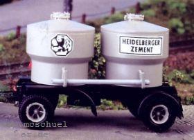 1:87 Anhänger 2-achsig mit Silo-Zementbehälter - Weinert 4551 - Bausatz incl. Beschriftung | günstig bestellen bei Modelleisenbahn Center  MCS Vertriebs GmbH