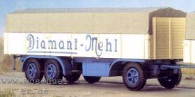1:87 Anhänger 3-achsig mit hoher Rückwand, Diamant Mehl, (passend zu 4562), Bausatz - Weinert 4563  | günstig bestellen bei Modelleisenbahn Center  MCS Vertriebs GmbH