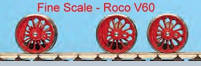V 60: RP25 Fine Scale Lokradsätze für Roco V60-Weinert 5626  | günstig bestellen bei Modelleisenbahn Center  MCS Vertriebs GmbH