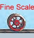Vorlauf-Radsatz RP25 Fine Scale d=9,8mm, 7 Speichen-Weinert 56510  | günstig bestellen bei Modelleisenbahn Center  MCS Vertriebs GmbH