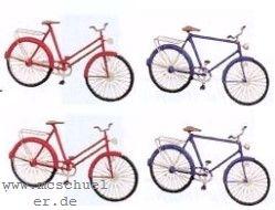 TT Fahrräder, Damen- und Herrenrad, je 2 Stück, Messing-Ätzteile - Weinert 5837  | günstig bestellen bei Modelleisenbahn Center  MCS Vertriebs GmbH
