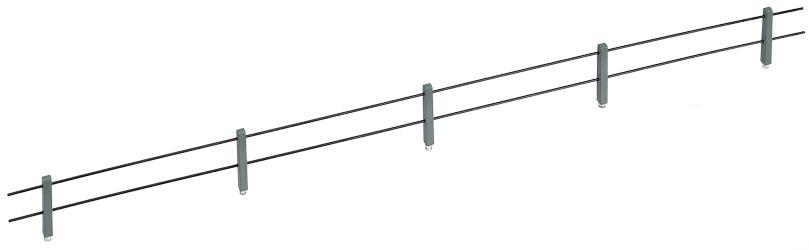 1:120 Zaun mit Betonpfählen in leichter Ausführung mit 2 Querstangen - Weinert 5879  | günstig bestellen bei Modelleisenbahn Center  MCS Vertriebs GmbH