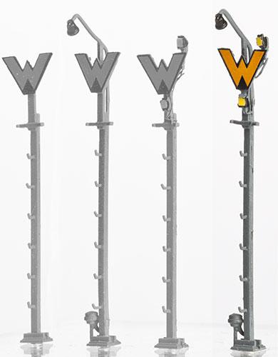 1:120 Wartezeichen mit Sh1 mit Anstrahlleuchte - Weinert 5883  - Bausatz mit 3 LEDs | günstig bestellen bei Modelleisenbahn Center  MCS Vertriebs GmbH